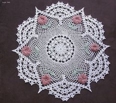 Rose Doily by Leigh_M, via Flickr