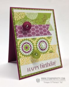 Stampin pretty - retired floral district DSP