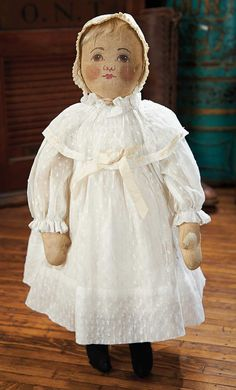 View Catalog Item - Theriault's Antique Doll Auctions Lot: 442. American Cloth Doll by Babyland Rag