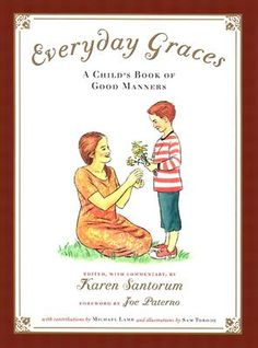 Fabulous etiquette book for kids.  Sen. Santorum recently signed our copy and pointed out that a story he wrote about place settings is in the book on p. 127