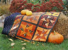 halloween star quilt