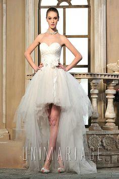 robe de mariée courte devant longue derrière