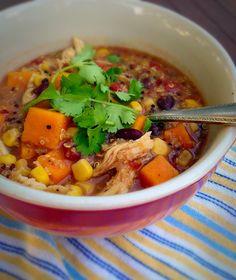 Sweet potato chicken #quinoa #soup