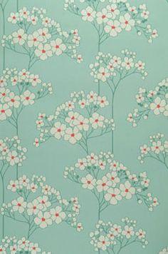 Aqua w flowers