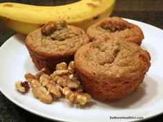 banana-oatmeal-walnut muffins