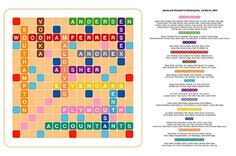Scrabble #seating chart
