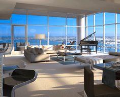 Beautiful luxury penthouse apartment in San Diego, California.