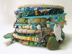 Down at the Beach by BeadCasita on Etsy