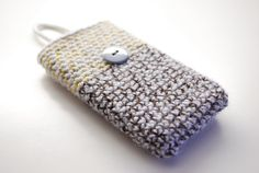 Brown Smart Phone sleeve in 2 colours iPhone bag by TheNewcrochet, €6.00