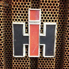 Vintage International Harvester front grille badge.