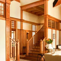 """Top of the beam and crown moulding construction: craftsman style"""""""