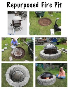 Turn the rolling fire pit into a permanent backyard fixture!