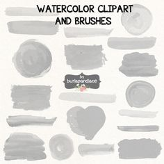 Vector Watercolor clipart/brush by burlapandlace on Creative Market