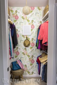 Dying over this gorgeous DIY closet, done on a budget, with tons of REAL ideas you can use in your own house!