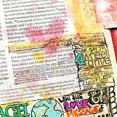 Heather Greenwood aka Scrap Happy Hippie: Mixed Media Art Journaling Bible Tutorial: adding ephemera that flips out