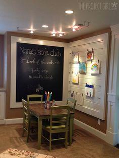Children's Nook - chalkboard & art display