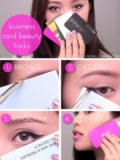 business card beauty tricks // so genius!