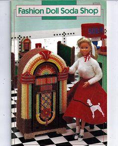 Fashion Doll Soda Shop Plastic Canvas Pattern por grammysyarngarden