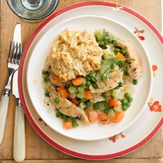 Spring Chicken and Biscuits - Good Housekeeping
