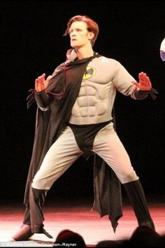 I don't even know what's happening here, but the doctor is dressed like Batman.