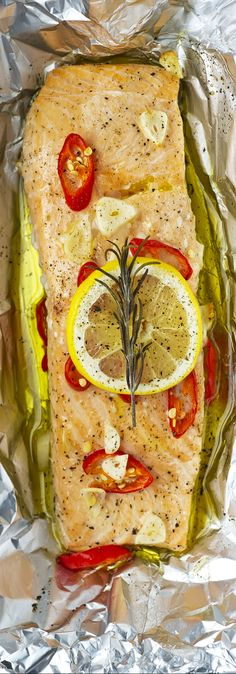 Salmon Parcels  by fishisthedish:  An extremely quick and simple recipe for a beautiful salmon parcel. www.fishisthedish.co.uk/recipes/1351-salmon-parcels #Salmon_Parcels #Foil #Easy #Healthy