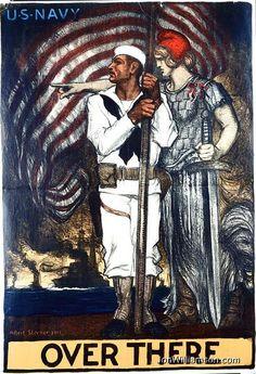 WW I   navy  poster
