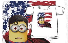 Funny Cute Justice league Superman the man of steel Despicable Me minions Kids and Baby T-shirt Clothes