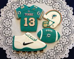 Miami Dolphin Football Cookies