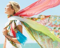 Colorful scarves and wraps @ belk.com #belk #accessories