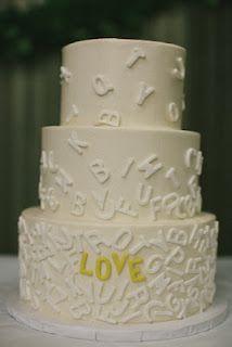 Fondant- The Wedding Cake Blog: (Trend) Alphabet Wedding Cakes