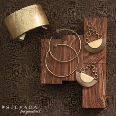Athena Cuff, Athena Earrings and Eclipse Earrings from the #Silpada K & R Collection  Not just sterling silver anymore, but your classic Silpada jewelry will shine with the addition of pieces from the K & R Collection!