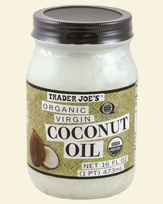 Coconut oil is great for your hair. Take a couple of tablespoons out of a jar and massage it into your dry hair starting at the ends. Let sit for half an hour. You can also microwave a damped towel for about 20-30 seconds and wrap your hair up in it. The heat opens your hair shaft and allows the oil to get absorbed more easily. Afterwards shampoo as normal or until your hair doesn't feel oily.