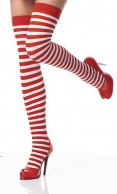 Nylon Striped Stockings Sexy Stockings Christmas