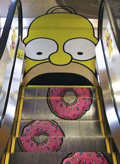 Homer Simpson Escalator
