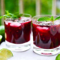 Blackberry Mojitos | Elegant Foods and Desserts