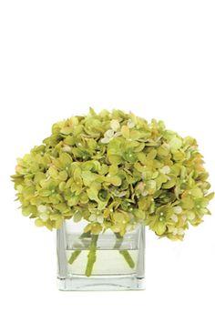 Green Hydrangea  Faux Flower Arrangement