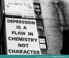 Depression Is A Flaw In Chemistry, Not In Character. I put this on the board with the most followers for a reason.