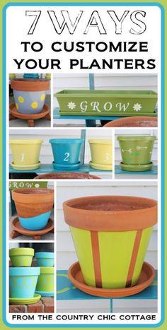 herb planter ideas, decor crafts, garden crafts diy, gardening pots, herbs garden, flower pots, diy pottery planter, diy garden planters, painting planters