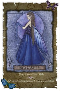 Aquarius (Jan 21st - Feb 18th)       1 of my 2 signs - Born on the Cusp