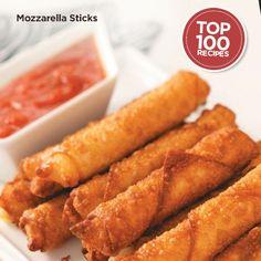 Mozzarella Sticks Recipe from Taste of Home #Top_100 #Recipe