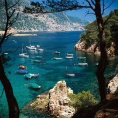 blue, costa blanca, sea, costabrava, beauti, boat, place, spain travel, costa brava