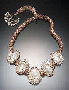 bead necklac, beaded necklaces, beaded bezel, favorit jewelri, diana denni