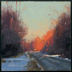 #oil #trees #light #sunset Marc Hanson