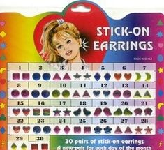 Stick On Earrings!     Repin if they always fell off and got stuck in your hair
