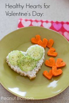 Healthy Valentine's Day Treats | Inner Child Food: Such a cute little snack or light lunch for Valentine's.