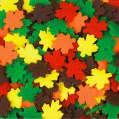 Jumbo Leaves Cookie and Cupcake Sprinkles by Wilton