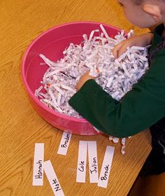 Find your name and friends name in the shredded paper.