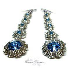 Workshop: Earrings Amber caramel. Rooted Swarovski crystals. - Fair Masters - handmade, handmade