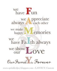 FAMILY - Customizable printable