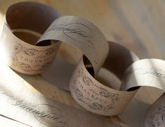 craft, napkin rings, kraft paper, papers, thanksgiving, garland, paper chains, christma, printabl